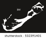 bermuda map black and white...   Shutterstock .eps vector #532391401
