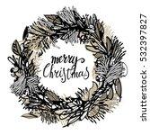 christmas wreath | Shutterstock .eps vector #532397827