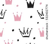 cute pattern with crown | Shutterstock .eps vector #532402774