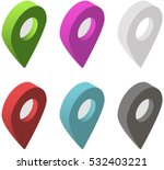 set of isometric map pointers.... | Shutterstock .eps vector #532403221
