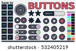 set of flat buttons for the...