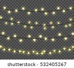 set of realistic color garlands ... | Shutterstock .eps vector #532405267