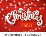 christmas party poster with... | Shutterstock .eps vector #532405324