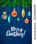merry christmas and new year... | Shutterstock .eps vector #532406449