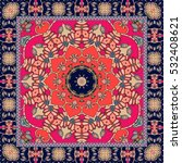beautiful bandana or square rug ... | Shutterstock .eps vector #532408621