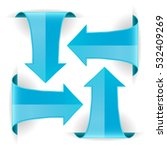 blue arrows. set of curved web... | Shutterstock .eps vector #532409269