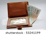 Banknotes In Wallet On White...