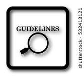 guidelines icon  black website... | Shutterstock . vector #532413121