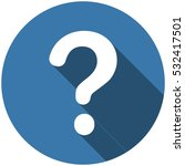 question icon vector flat... | Shutterstock .eps vector #532417501