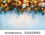 christmas fir tree with... | Shutterstock . vector #532418965