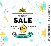 sale poster with geometric... | Shutterstock .eps vector #532425439
