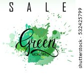 green monday sale lettering on... | Shutterstock .eps vector #532425799