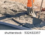 concrete pouring during...   Shutterstock . vector #532432357