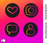 set heart  user chat icon... | Shutterstock .eps vector #532438204
