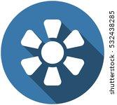 fan icon vector flat design...