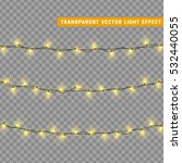 christmas lights isolated... | Shutterstock .eps vector #532440055