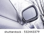 side of a frozen car in a cold... | Shutterstock . vector #532443379