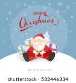 merry christmas and happy new... | Shutterstock .eps vector #532446334