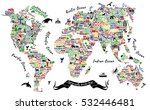 typography world map. travel ... | Shutterstock .eps vector #532446481