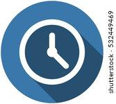 clock icon  vector flat design...