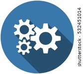 gear icon vector flat design...   Shutterstock .eps vector #532451014
