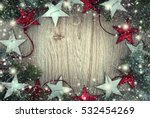 christmas frame background with ... | Shutterstock . vector #532454269