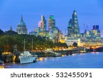 london cityscape at dusk with...   Shutterstock . vector #532455091