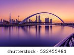 sunrise in dubai canal | Shutterstock . vector #532455481