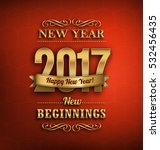 2017   new year greeting design ... | Shutterstock .eps vector #532456435