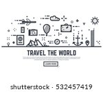 travel the world illustration... | Shutterstock .eps vector #532457419