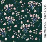 hand drawn seamless flower... | Shutterstock .eps vector #532457911