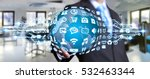 businessman holding digital web ... | Shutterstock . vector #532463344