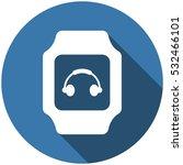 smart watch icon vector  flat... | Shutterstock .eps vector #532466101