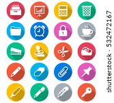 office supplies flat color icons | Shutterstock .eps vector #532472167