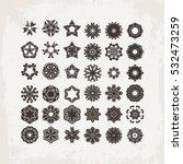 set of ornate vector mandala... | Shutterstock .eps vector #532473259