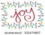 joy christmas lights | Shutterstock .eps vector #532474807