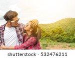 couple of romantic lovers... | Shutterstock . vector #532476211