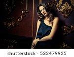 beautiful sensual woman wearing ... | Shutterstock . vector #532479925