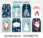 christmas labels   Shutterstock .eps vector #532480741