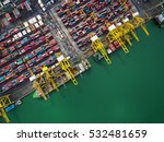 aerial view of cargo ship ... | Shutterstock . vector #532481659