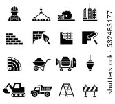 construction icons set. | Shutterstock .eps vector #532483177