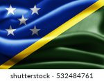 solomon islands flag of silk 3d ... | Shutterstock . vector #532484761