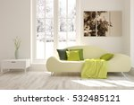 white room with sofa and winter ... | Shutterstock . vector #532485121