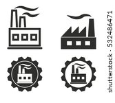 factory vector icons set.... | Shutterstock .eps vector #532486471