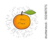 hand drawn orange with empty... | Shutterstock .eps vector #532487071