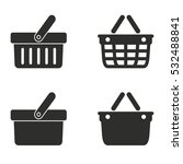 shopping basket vector icons... | Shutterstock .eps vector #532488841