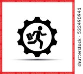 man in gear icon vector... | Shutterstock .eps vector #532490941