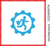man in gear icon vector... | Shutterstock .eps vector #532490974