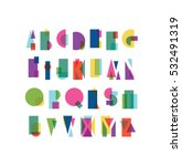 overlapping shapes alphabet... | Shutterstock .eps vector #532491319