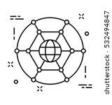 global network vector icon | Shutterstock .eps vector #532494847